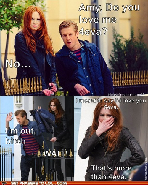 4ever,amy pond,arthur darvil,boi,crey,doctor who,karen gillan,love,rory williams,wait