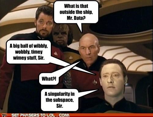 brents spiner,Captain Picard,data,Jonathan Frakes,Michael Dorn,patrick stewart,Riker,singularity,Star Trek,technobabble,wibbly,Worf