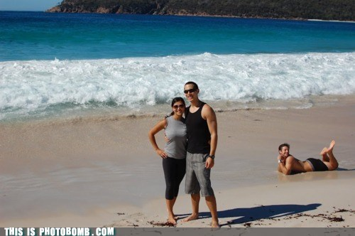beach,couple,Good Times,pretty,tide,wave