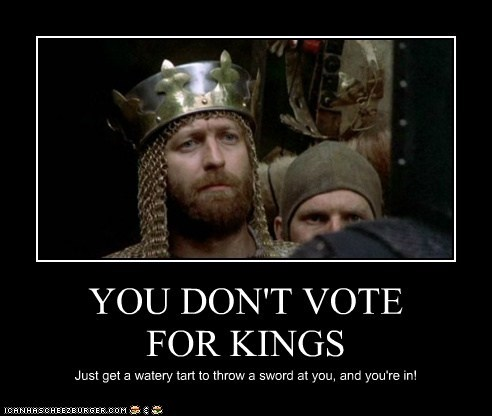 YOU DON'T VOTE FOR KINGS