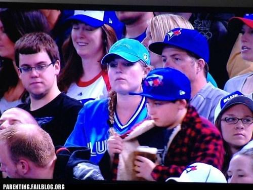 baseball game,beer,sneaky