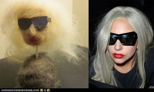 Lady Gaga Made of Cat Hair