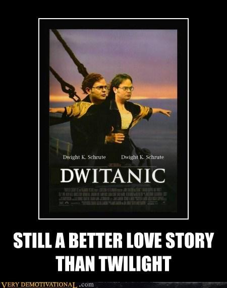 dwight,hilarious,love story,titanic,twilight