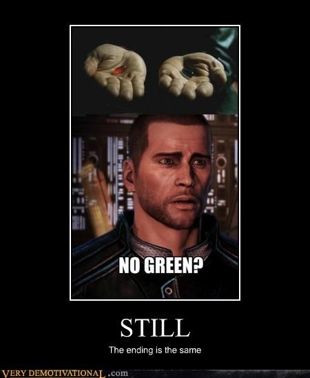 blue,ending,green,hilarious,mass effect 3,matrix,red,still