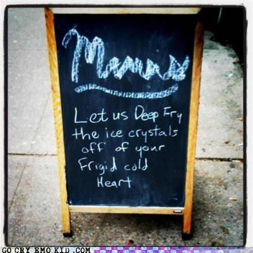 deep fried,emolulz,heart,menu,restaurant,sign