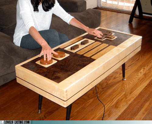 button,coffee table,controller,nintendo,table,wood