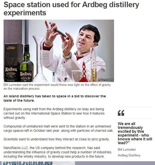 ardbeg,booze news,distillery,distilling,Gravity,ISS,nasa,space station