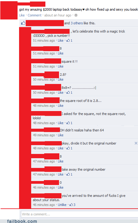 Failbook: Math Troll