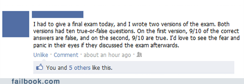 Failbook: This Teacher Is Evil (T)/F