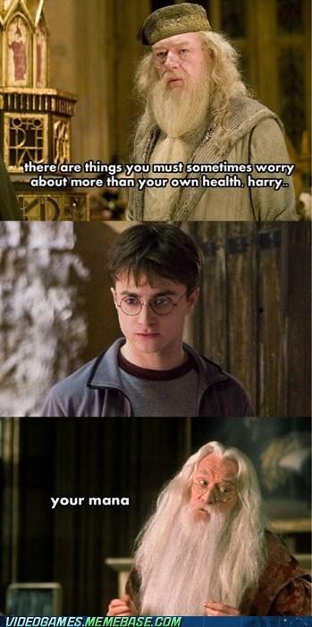 comic,dumbledore,Harry Potter,health,mana