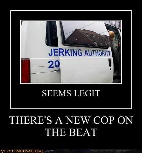 THERE'S A NEW COP ON THE BEAT