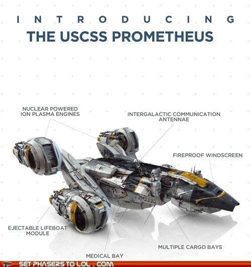 Weyland Industries' Diagram of the Prometheus
