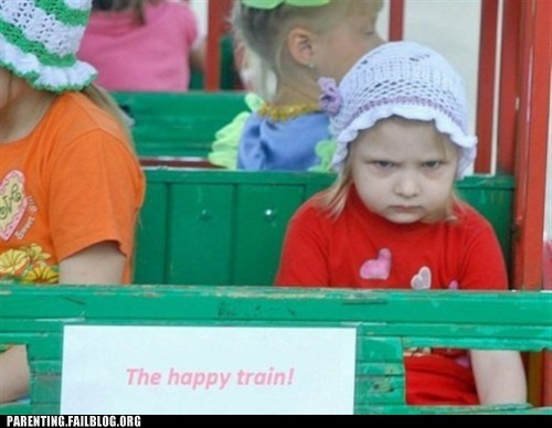 Parenting Fails: The Happy Train!