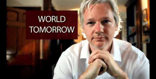 Julian Assange TV Show Debut of the Day
