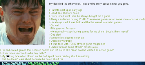 dad,love,memories,motivation,parents,Sad,the internets,video games