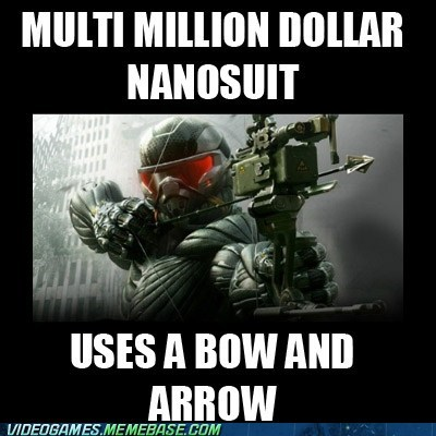 announced,bow and arrow,crysis 3,leaked,meme,nanosuit