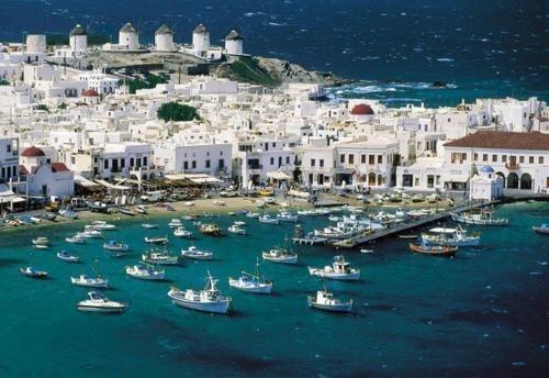 boats,greece,harbor,ocean