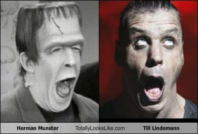 Herman Munster (Fred Gwynne) Totally Looks Like Till Lindemann