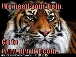 We need your help.                    Go to www.mywwf.com.