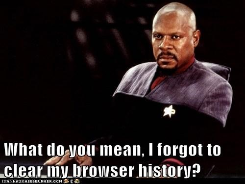 What do you mean, I forgot to clear my browser history?