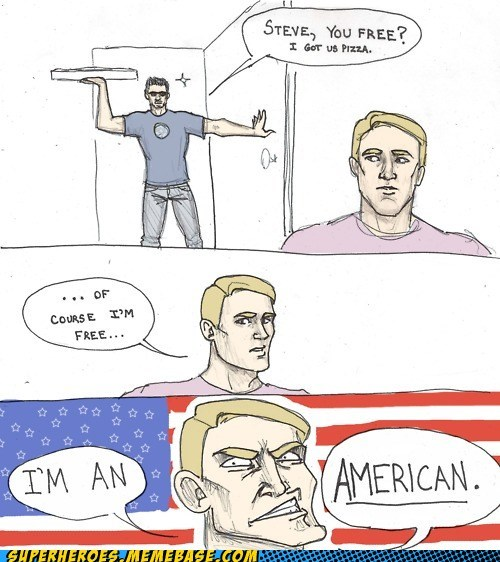 american,Awesome Art,captain america,iron man,pizza