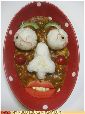 Waiter, there's a Face in my Curry!