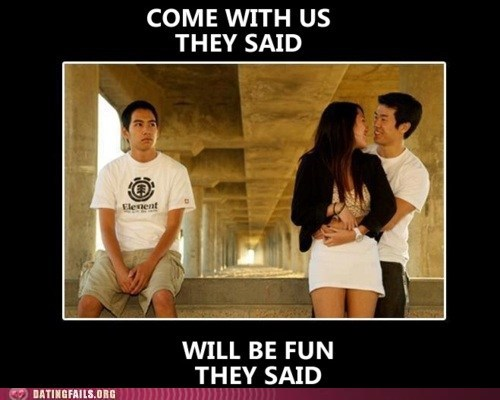 Dating Fails: Being the Third Wheel is the Best!