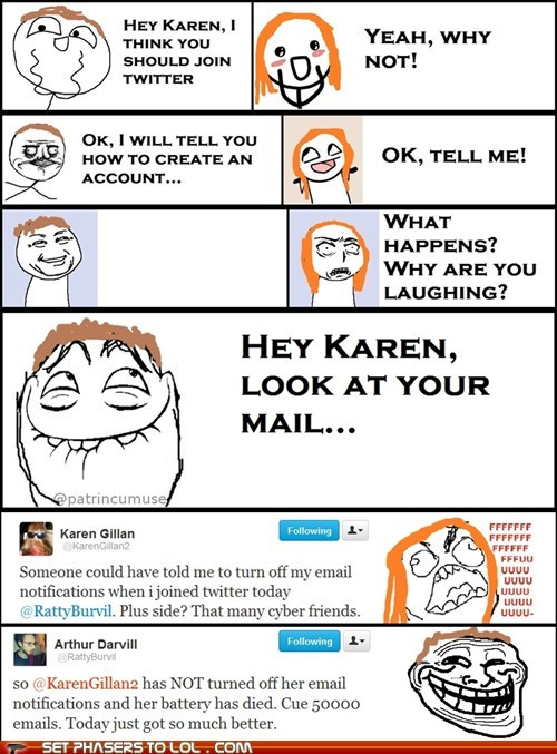 amy pond,arthur darvill,doctor who,email,karen gillan,oops,Rage Comics,rory williams,trolling,twitter