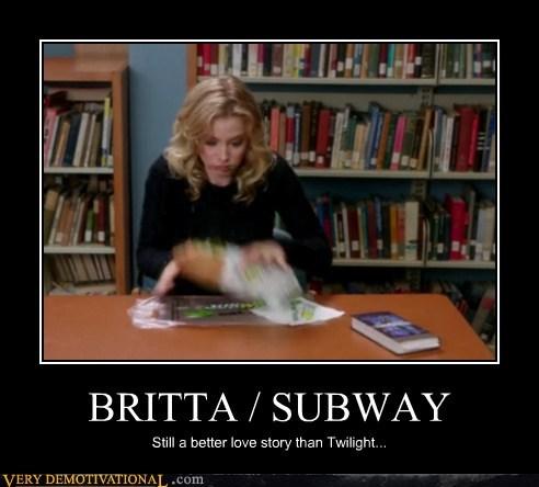 Britta,hilarious,sandwich,Subway