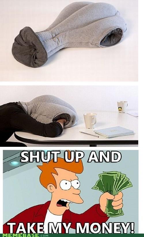 fry,hands,nap,Pillow,shut up,sleep,take my money