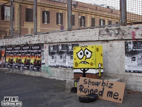cartoons,graffiti,hacked irl,SpongeBob SquarePants,Street Art