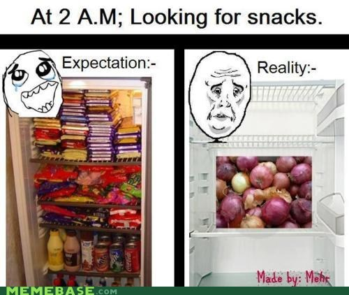 expectation,feel,How People View Me,kitchen,midnight,reality