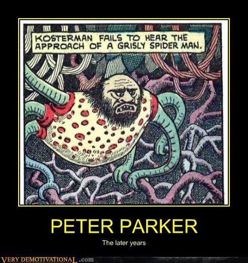 hilarious,later years,peter parker,Spider-Man,wtf