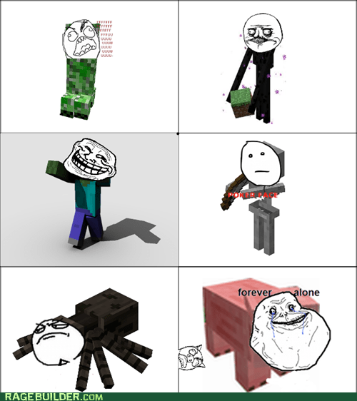 minecraft monsters rage