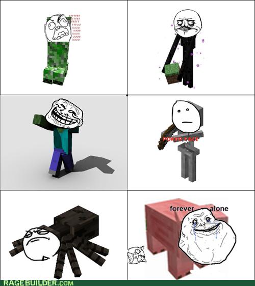 minecraft monsters rage