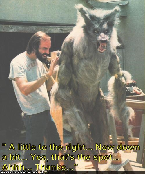 howling,itch,puppet,scratching,special effects,spot,werewolf