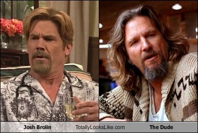 Josh Brolin Totally Looks Like The Dude (Jeff Bridges)