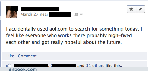 AOL,obsolete,outdated,search
