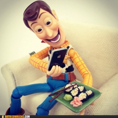 Hipster Woody Loves His Instagram