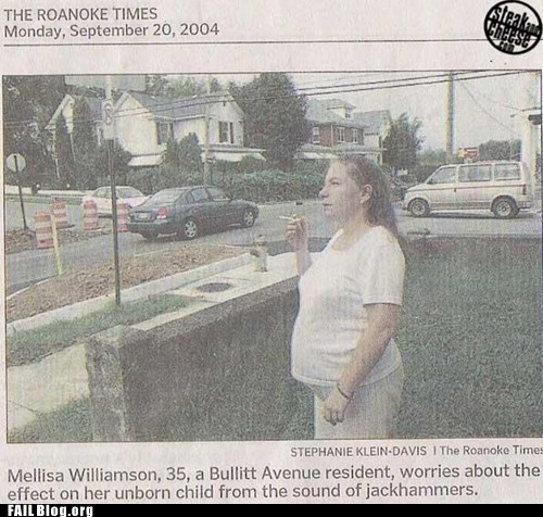 newspaper,noise complaint,pregnant,smoking while pregnant