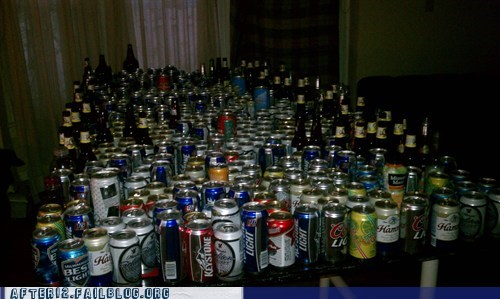 beer,beer cans,motherlode,stash,supply,tons of alcohol