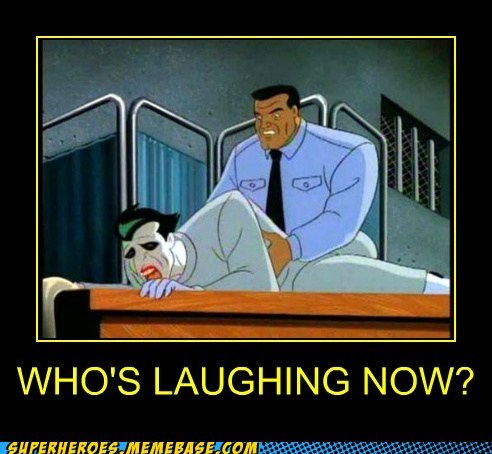 arkham,joker,laughing,Super-Lols,wtf