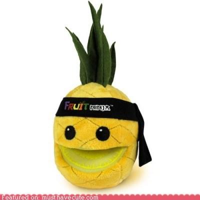 fruit,fruit ninja,pineapple,Plush,toy