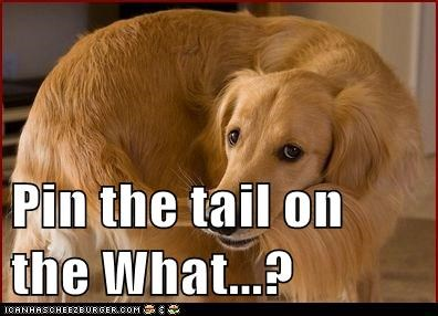 Pin the tail on the What...?