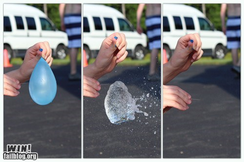 Popping a Water Balloon WIN