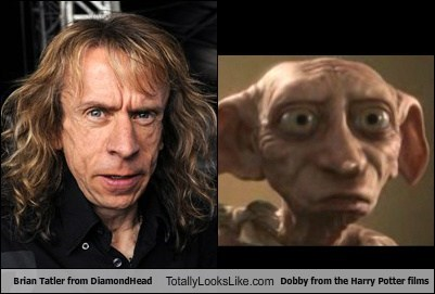 Brian Tatler from Diamond Head Totally Looks Like Dobby from the Harry Potter Films