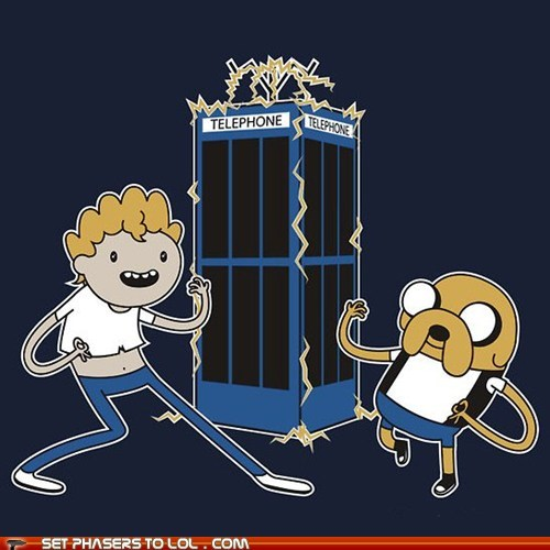 adventure time,bill and ted,finn and jake,telephone booth,time travel