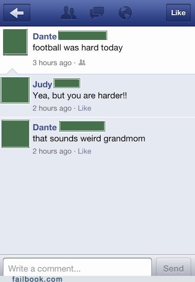 football,grandmas,TMI