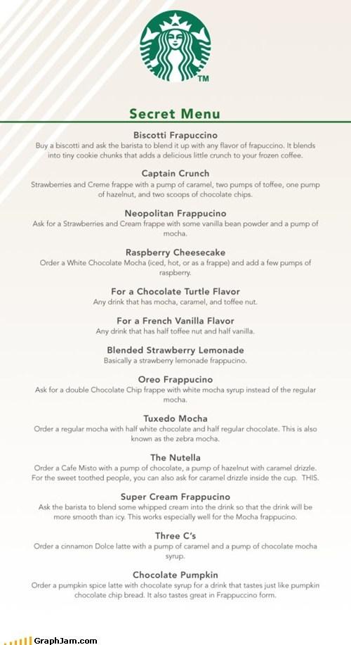 best of week,coffee,secret menu,Starbucks