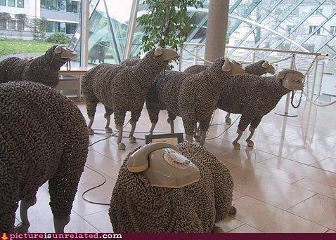 art,cord,phones,sheep,wtf